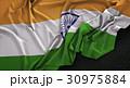 India Flag Wrinkled On Dark Background 3D Render 30975884