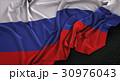 Russia Flag Wrinkled On Dark Background 3D Render 30976043