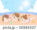 ビーチ 浜辺 ビキニのイラスト 30984307