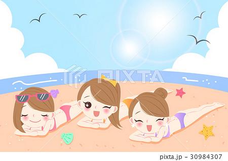 women on the beach 30984307