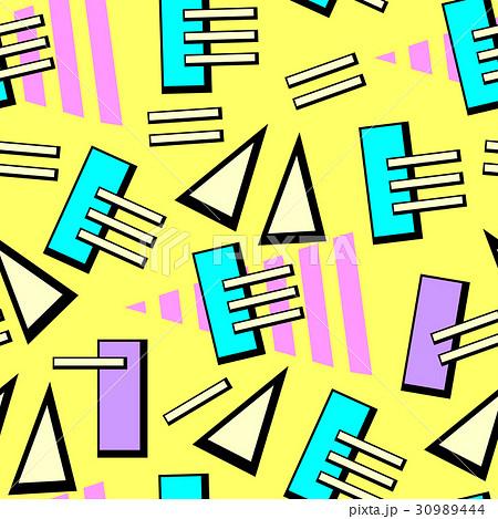 Vector neon pop background 80s, 90s 30989444