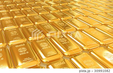 純金のイラスト素材 [30991082] ...