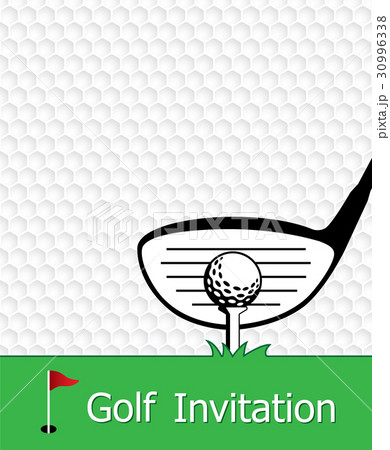 golf invitation flyer template graphic designのイラスト素材