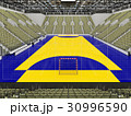 Modern handball arena with olive green seats 30996590