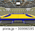 Modern handball arena with olive green seats 30996595