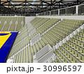 Modern handball arena with olive green seats 30996597