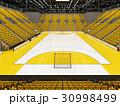 Modern handball arena with bright yellow seats 30998499