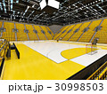 Modern handball arena with bright yellow seats 30998503