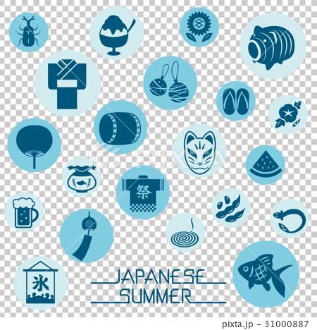 日本の夏 アイコンセット 31000887