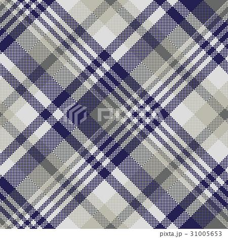 Blue gray check textile seamless patternのイラスト素材 [31005653] - PIXTA