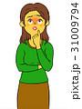 不安 人物 女性のイラスト 31009794