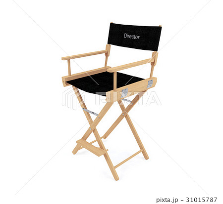 Director's chair isolated on white backgroundのイラスト素材 [31015787] - PIXTA