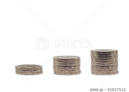 Stack of Coin isolated on white.の写真素材 [31017512] - PIXTA