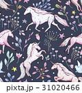 Watercolor unicorn pattern 31020466
