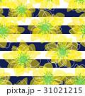 花と縞のシームレスパターン 31021215