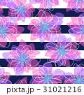 花と縞のシームレスパターン 31021216
