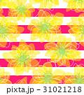 花と縞のシームレスパターン 31021218