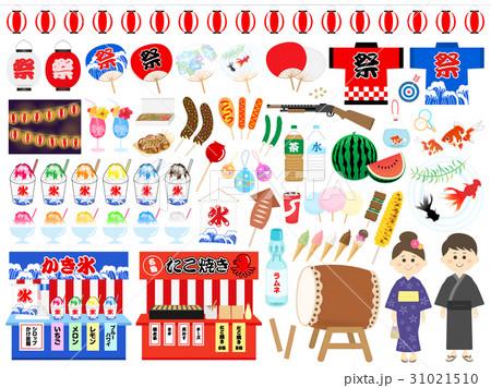 夏祭りのイラストセット 31021510