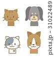 ペット 犬 猫のイラスト 31022489
