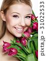 美しい 女性 花の写真 31022533