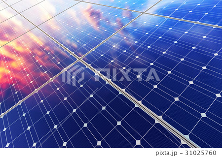 Electric solar battery panels 31025760