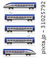 電車 列車 線路のイラスト 31025792