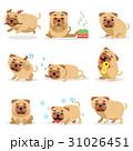 パグ わんこ 犬のイラスト 31026451