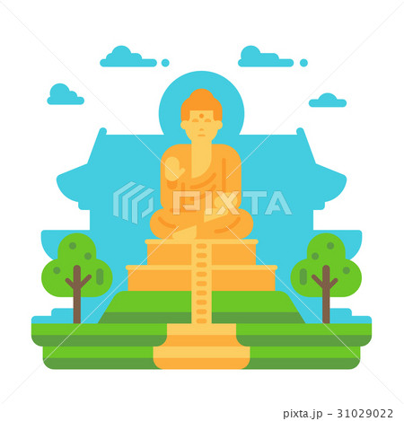 Flat design Tian Tan Buddha 31029022