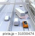 高速道路の事故現場に衝突被害軽減ブレーキによる二次事故回避のコンセプトイメージ 31030474
