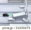 高速道路の事故現場に衝突被害軽減ブレーキによる二次事故回避のコンセプトイメージ 31030475