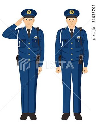 警察官(冬服)のイラスト素材 [...