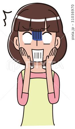 ショックを受ける女性のイラスト 31036970