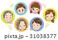 アイコン 顔 三世代家族のイラスト 31038377