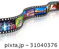 映画フィルム かせ リールのイラスト 31040376