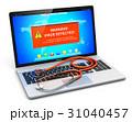 ノートパソコン 聴診器 ウイルスのイラスト 31040457