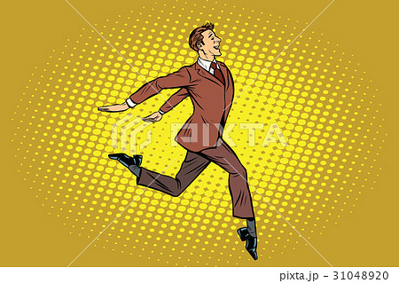 Elegant businessman runs forward 31048920