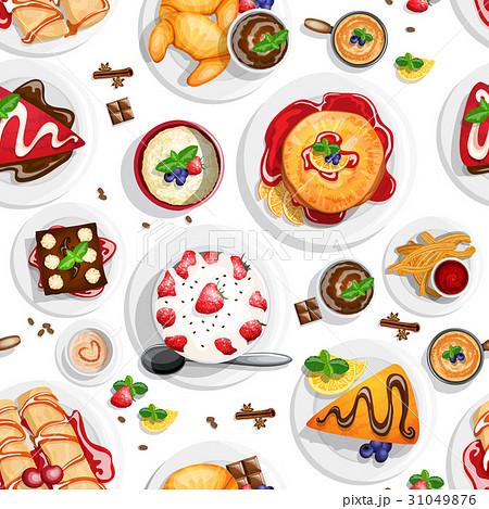 Dessert top view 31049876
