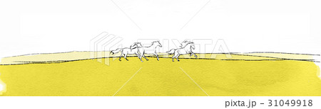 Landscape with horsesのイラスト素材 [31049918] - PIXTA