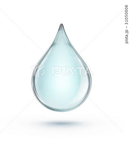 Blue water dropのイラスト素材 [31050006] - PIXTA