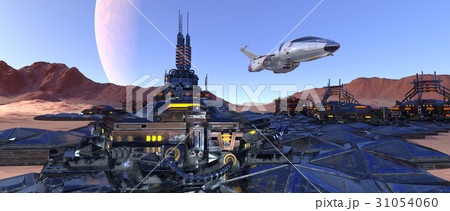 宇宙都市のイラスト素材 [310540...