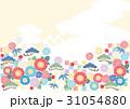和柄 花 市松模様のイラスト 31054880