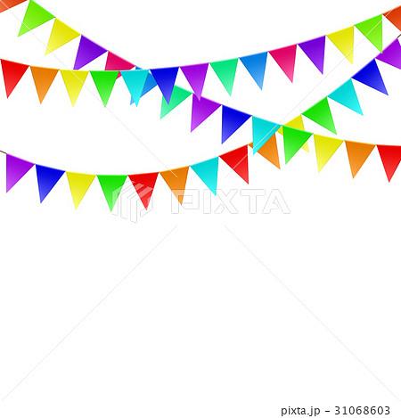 Colorful flags. Stock illustration.のイラスト素材 [31068603] - PIXTA