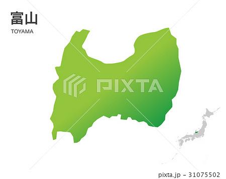 富山県の地図2イラスト素材のイラスト素材 31075502 Pixta