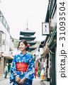 浴衣で京都を観光する女性 31093504