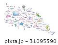マンタ くらげ 魚たち 31095590
