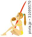 サーフィンの途中でハンバーガーを食べるLocoの女の子 31099570