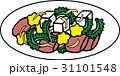 ゴーヤチャンプルー 沖縄料理 食べ物のイラスト 31101548