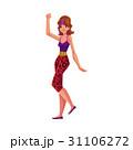 エアロビ エアロビクス 女性のイラスト 31106272