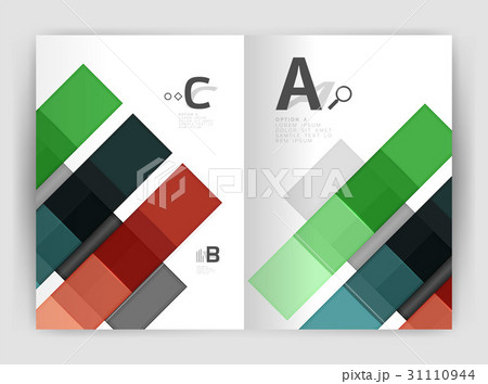 Business a4 business brochure geometrical templateのイラスト素材 [31110944] - PIXTA