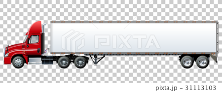 Vector truck template isolated on white 31113103